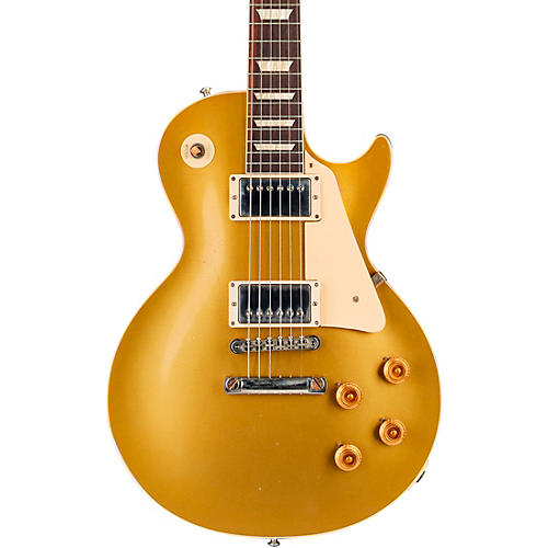 Gibson Custom 57 Les Paul All Gold Light Aged Electric Guitar Gold Top