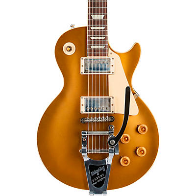 Gibson Custom 57 Les Paul All Gold Light Aged With Bigsby Electric Guitar
