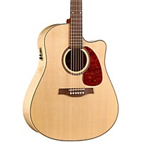 Seagull Performer Cutaway Flame Maple High Gloss Qi Acoustic-Electric Guitar Natural
