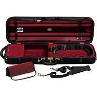J. Winter Super Light Series Violin Case Black With Burgundy Interior