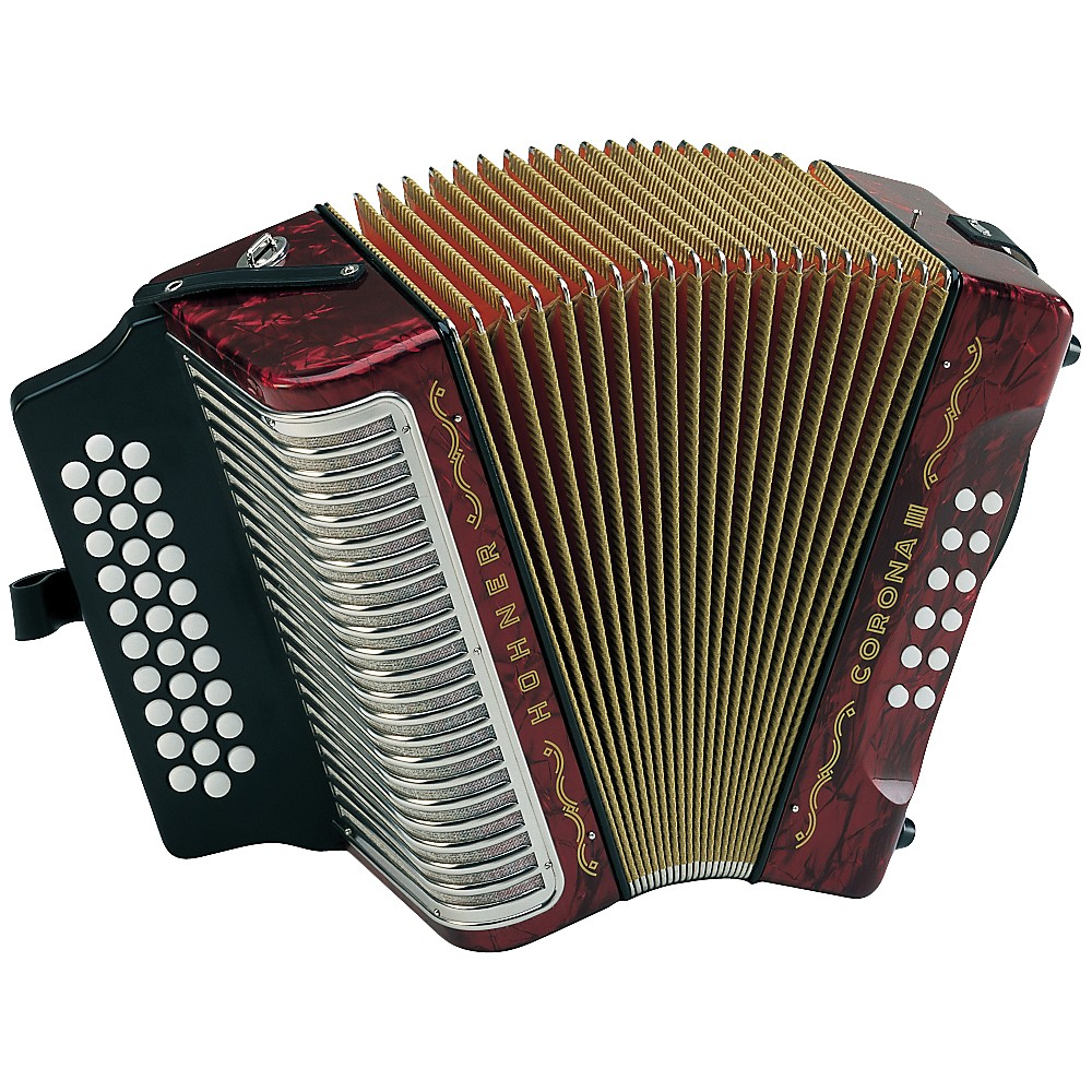 Hohner Corona Iii Adg Accordion Pearl Red