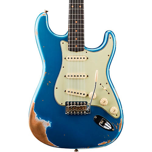 Fender Custom Shop '59 Heavy Relic Stratocaster Rosewood Fingerboard Electric Guitar Aged Lake Placid Blue