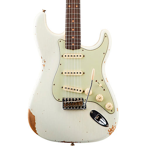 Fender Custom Shop '59 Heavy Relic Stratocaster Rosewood Fingerboard Electric Guitar Aged Olympic White