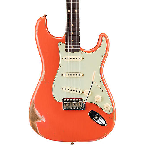 Fender Custom Shop '59 Heavy Relic Stratocaster Rosewood Fingerboard Electric Guitar Faded Aged Tahitian Coral