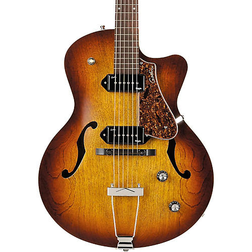 Godin 5th Avenue CW Kingpin II Archtop Electric Guitar Condition 1 - Mint Cognac Burst