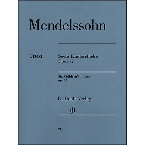 G. Henle Verlag 6 Children's Pieces Op. 72 for Piano Solo By Mendelssohn