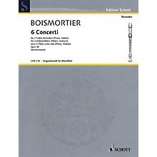 Schott 6 Concerti, Op. 38 Woodwind Ensemble Series Softcover  by Johann Bodin de Boismortier