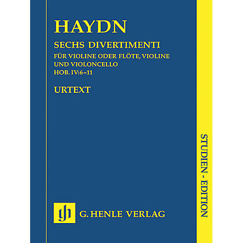 G. Henle Verlag 6 Divertimenti Hob.IV:6-11 (Study Score) Henle Study Scores Series Softcover Composed by Joseph Haydn
