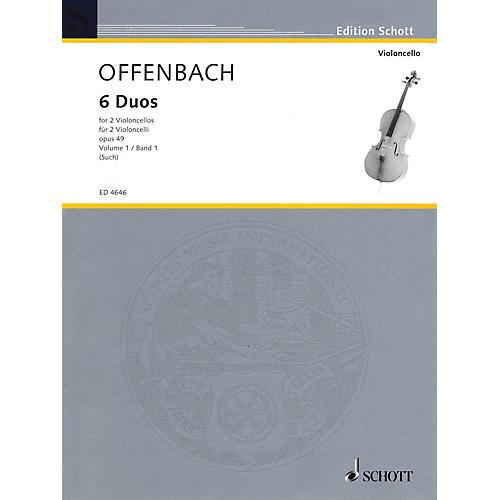 Schott 6 Duos, Op. 49 Vol. 1: Nos. 1-3 (2 Cellos) Schott Series