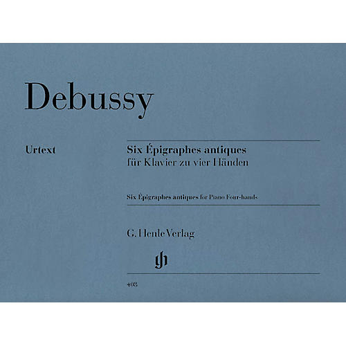 G. Henle Verlag 6 Epigraphes Antiques Henle Music Folios Series Softcover