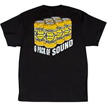 6 Pack Of Sound Black T-Shirt Large