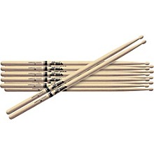 6-Pair American Hickory Drumsticks Wood 5B