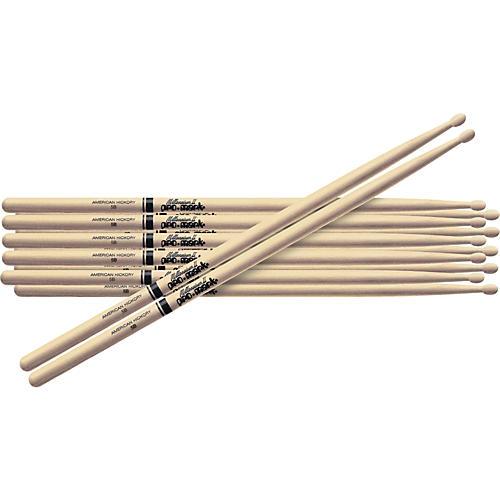 Promark 6-Pair American Hickory Drumsticks Wood TX747BW
