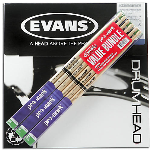 PROMARK 6-Pair American Hickory Drumsticks with B14G1 14
