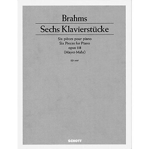 Schott 6 Piano Pieces, Op. 118 Schott Series