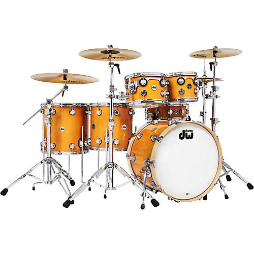 DW 6-Piece Collector's Series Santa Monica Shell Pack with Chrome Hardware Butterscotch