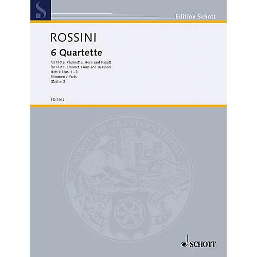 Schott 6 Quartets - Vol. 1 (Set of Parts) Schott Series by Gioacchino Rossini