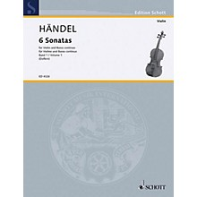 Schott Music 6 Sonatas - Vol. 1 Schott Series Composed by Georg Friedrich Händel