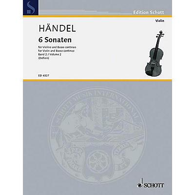 Schott Music 6 Sonatas - Vol. 2 Schott Series Composed by Georg Friedrich Händel