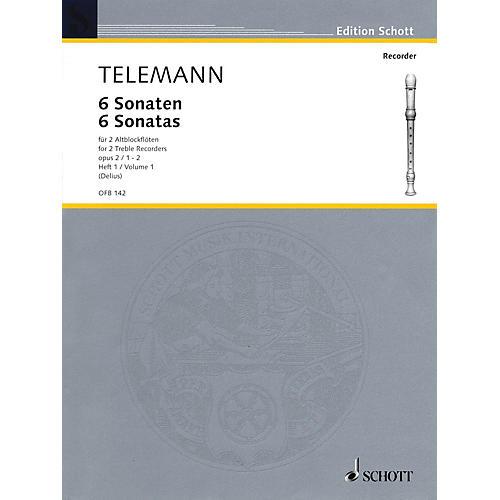 Schott 6 Sonatas Op. 2, Volume 1 (1-2) Schott Series by Georg Philipp Telemann