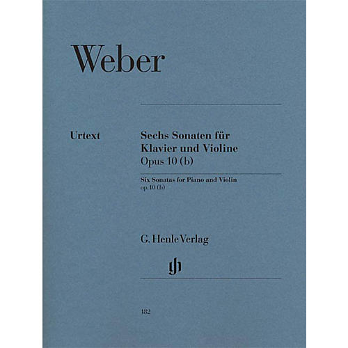 G. Henle Verlag 6 Sonatas for Piano and Violin Op. 10 (b) Henle Music Folios Series Softcover