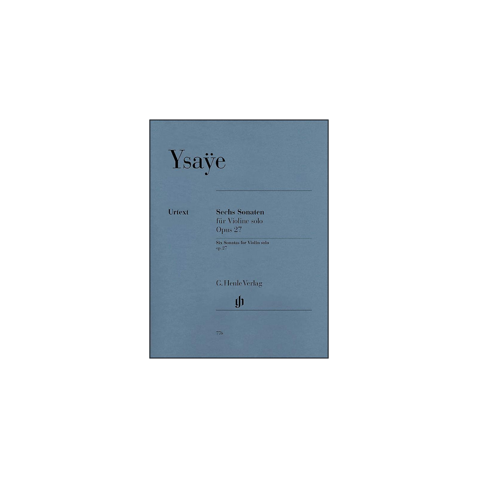 G. Henle Verlag 6 Sonatas for Violin Solo Op. 27 By Ysaye
