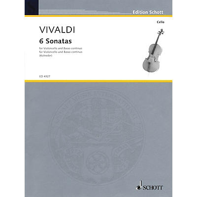 Schott 6 Sonatas (for Violoncello and Basso Continuo) Schott Series