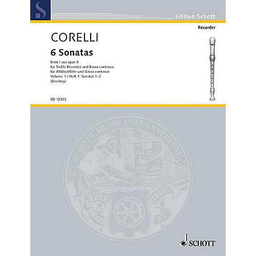 Schott 6 Sonatas from Op. 5 - Volume 1 Schott Series by Arcangelo Corelli Arranged by Gwilym Beechey