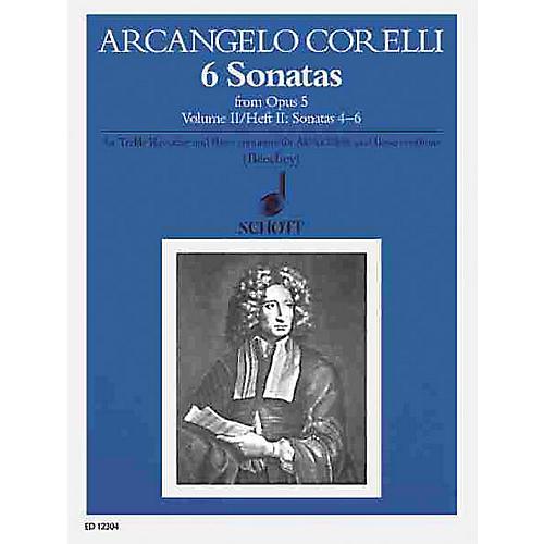 Schott 6 Sonatas from Op. 5 - Volume 2 Schott Series by Arcangelo Corelli Arranged by Gwilym Beechey
