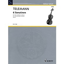 Schott 6 Sonatinas for Viola and Basso Continuo String Series Softcover