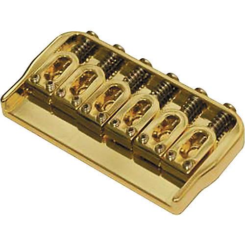 Hipshot 6-String US Fixed Guitar Bridge .125 Gold