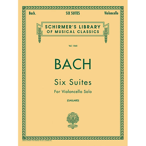 G. Schirmer 6 Suites for Unaccompanied Violoncello Bwv1007-1012 By Bach