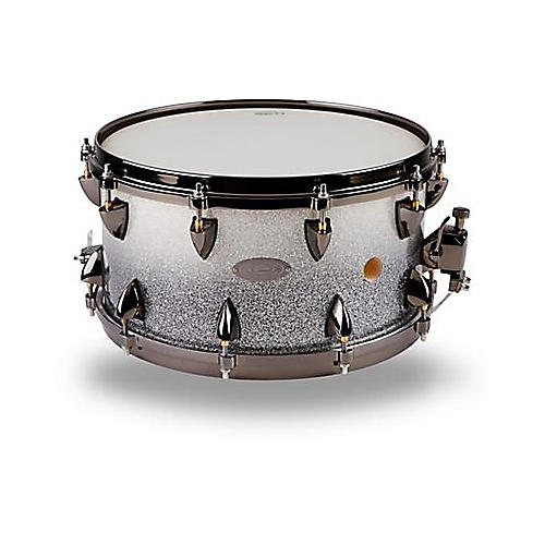 Orange County Drum & Percussion 6.5X14 25 PLY VENTED SNARE Drum Black and Silver 15