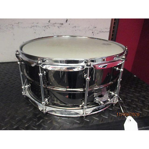 Pork Pie 6.5X14 Big Black BOB Snare Drum Black Chrome 15