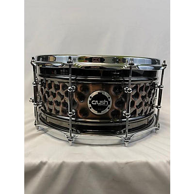 Crush Drums & Percussion 6.5X14 Hybrid Hand Hammered Steel Snare Drum