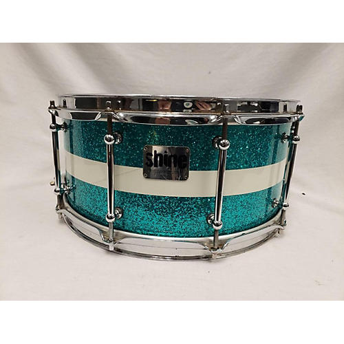 ShineCustomDrums& Percussion 6.5X14 Selectcutom Series Drum baby blue sparkle 15
