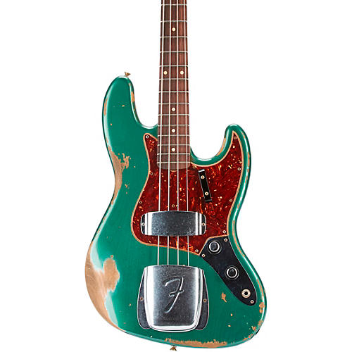 Fender Custom Shop 60 Jazz Bass Heavy Relic Aged Sherwood Green Metallic