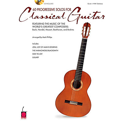 Cherry Lane 60 Progressive Solos for Classical Guitar Book with CD