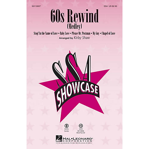 Hal Leonard 60s Rewind (Medley) (SSA) SSA arranged by Kirby Shaw