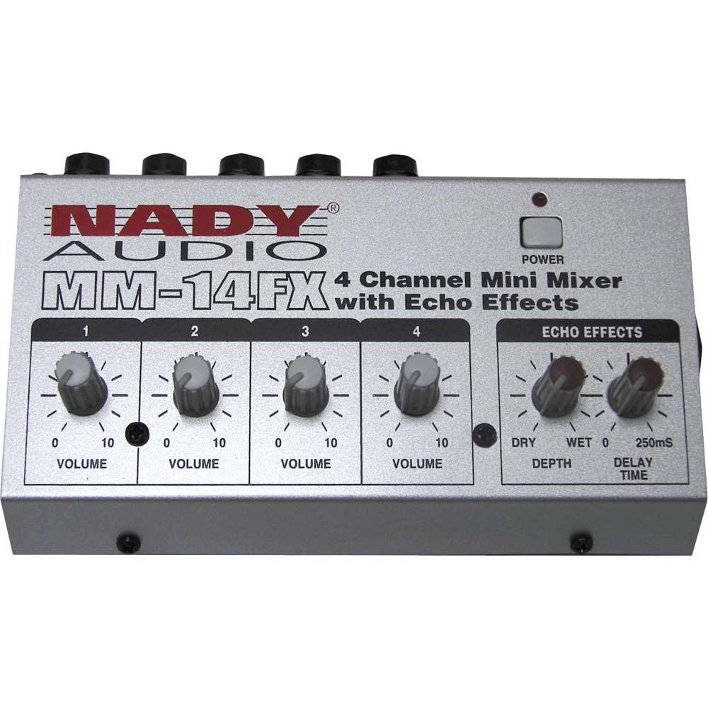 Nady Mm 14fx Mini Line Mixer With Effects Ebay