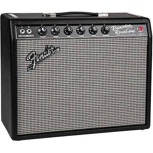Fender '65 Princeton Reverb 12W 1x10 Tube Guitar Combo Amp Condition 1 - Mint Black