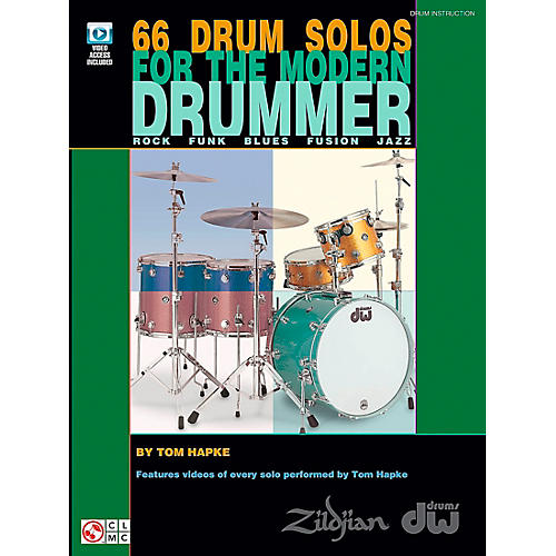 Cherry Lane 66 Drum Solos For The Modern Drummer (Book/DVD)
