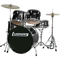 Ludwig Accent Series Complete Drum Set Black