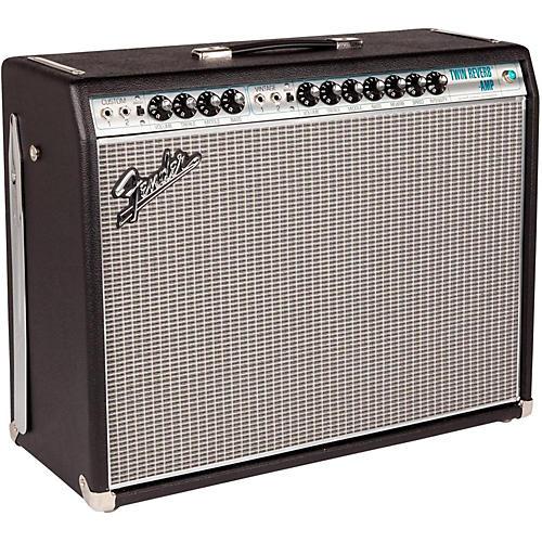 Fender '68 Custom Twin Reverb 85W 2x12 Tube Guitar Combo Amp with Celestion G12V-70s Speaker Condition 1 - Mint Black