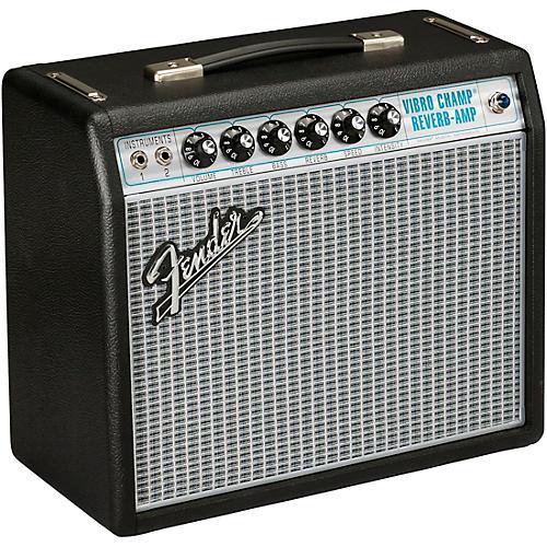 Fender '68 Custom Vibro Champ Reverb 5W 1x10 Guitar Combo Amp Black