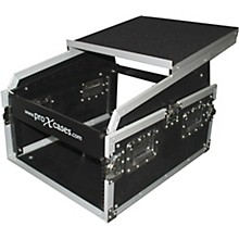 Open Box ProX 6U Rack x 13U Top Mixer DJ Combo Flight Case with Laptop Shelf