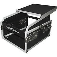 ProX 6U Rack x 13U Top Mixer DJ Combo Flight Case with Laptop Shelf