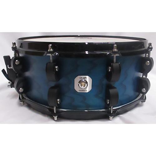 CRUSH 6X14 Chameleon Ash Drum Satin Blue 13