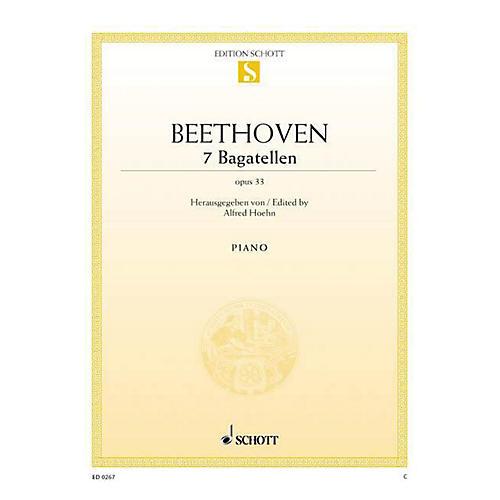 Schott 7 Bagatelles, Op. 33 Schott Series