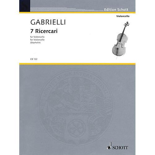 Schott 7 Ricercari (Cello Solo) Schott Series